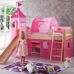 Cebes European Single Mid Sleeper Bed With Tower By Zoomie Kids