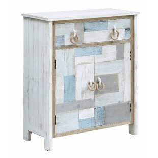 Highland Dunes Harrod South Shore Nautical 1 Drawer Accent Cabinet