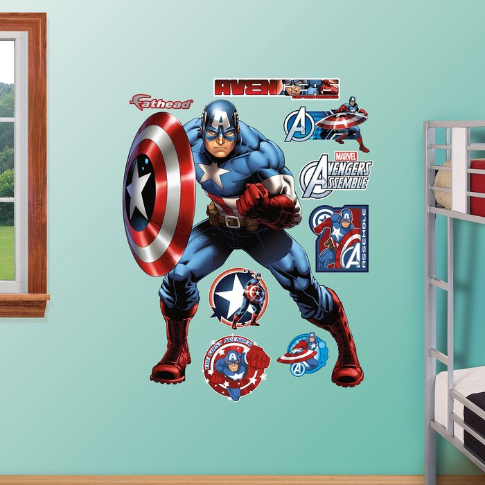 RealBig Marvel Avengers Assemble, Captain America Wall Decal