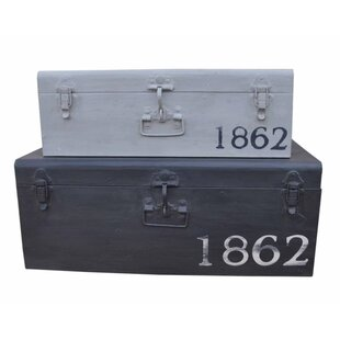 2 Piece Rustic Iron Trunk Set NACH Top Reviews