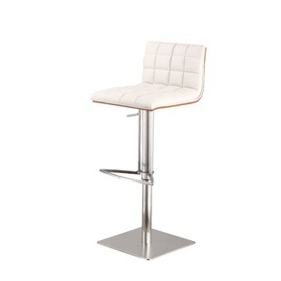 Armen Living Oslo Adjustable Height Swivel Bar Stool