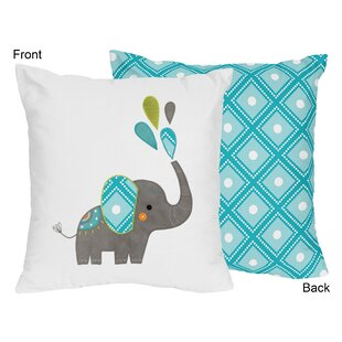Mod Elephant Throw Pillow