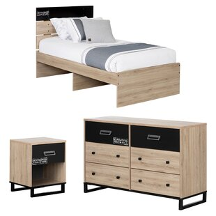 Induzy Industrial Twin Platform Configurable Bedroom Set