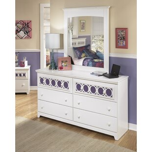 Benjamin 6 Drawer Double Dresser with Mirror by Viv + Rae
