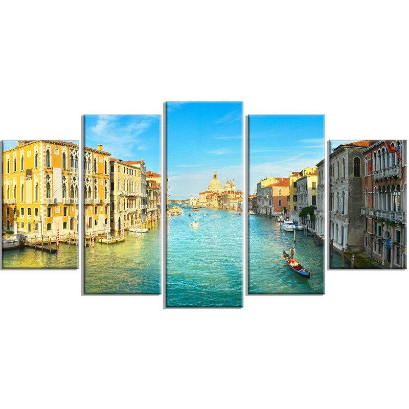 DesignArt \'Vibrant Evening Venice Italy \' 5 Piece Wall Art on ...