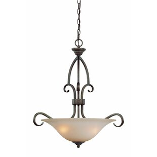 Fleur De Lis Living Charter Oak 3-Light Bowl Pendant