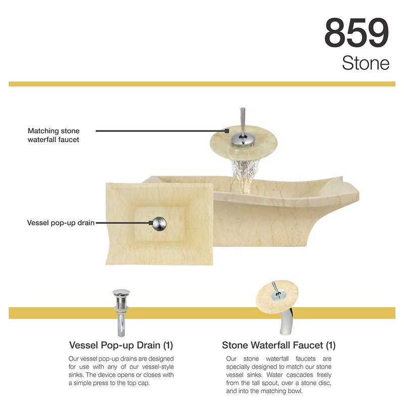 MRDirect Egyptian Stone Specialty Vessel Bathroom Sink with Faucet ...