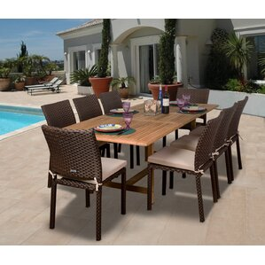 9 Piece Austin Teak Patio Dining SetPatio Dining Furniture   Joss   Main. Outdoor Dining Sets Austin. Home Design Ideas