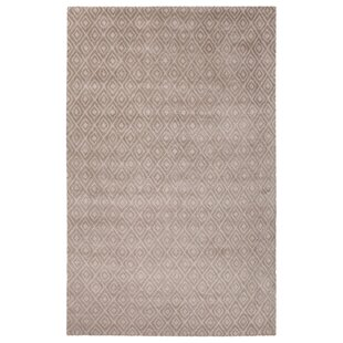 Reviews Bruce Hand-Tufted Ivory/White Area Rug By Orren Ellis