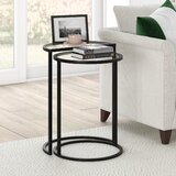Glass Half Circle End Side Tables You Ll Love In 2021 Wayfair