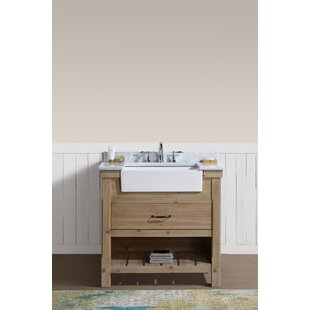 Compare prices Loftin 36 Single Bathroom Vanity Set By Union Rustic