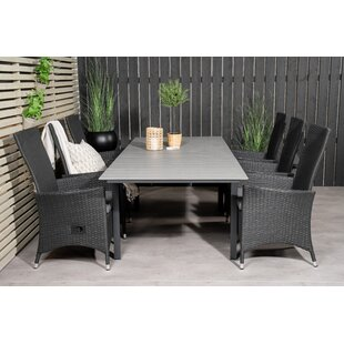 Aldrige 6 Seater Dining Set With Cushions By Sol 72 Outdoor