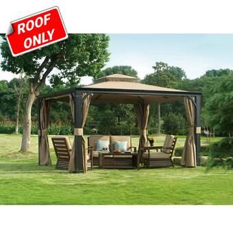 Garden Winds Riviera Sonoma Gazebo Replacement Canopy Reviews Wayfair