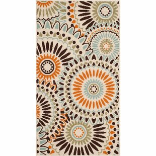 Caroline Cream/Chocolate Indoor/Outdoor Area Rug