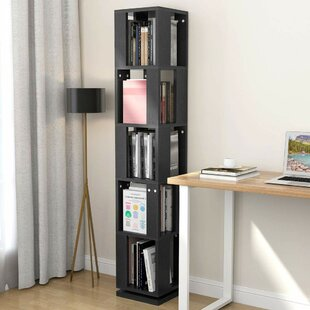 Flushing Modern Rotating Corner Bookcase