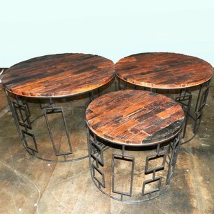 Scalzo Wood/Metal 3 Piece Coffee Table Set by Bloomsbury Market