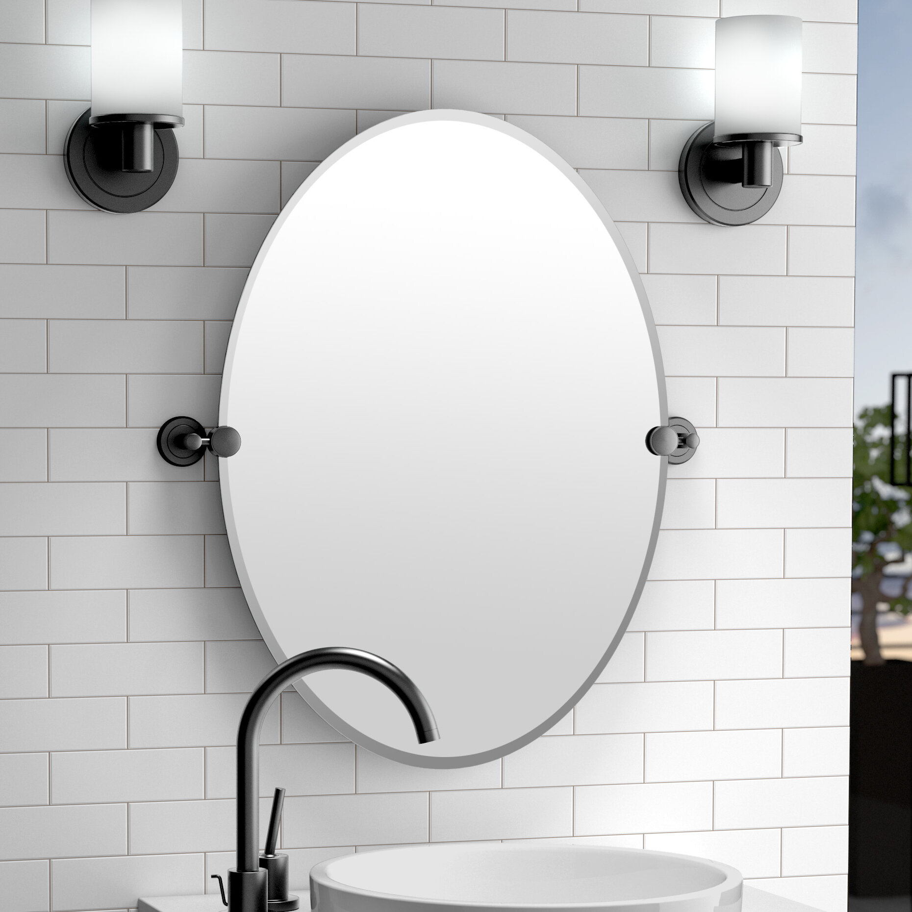Gatco Latitude Ii Traditional Beveled Bathroom Vanity Mirror Reviews Wayfair