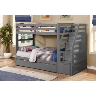 Marchan Twin Over Twin Bunk Bed with Trundle