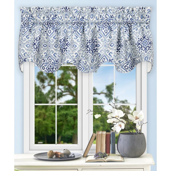 canvas of pin cotton blue lagoon curtain go mosaic curtains set to medallion with