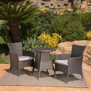 Ebern Designs Mansfield 3 Piece Bistro Set with Cushions