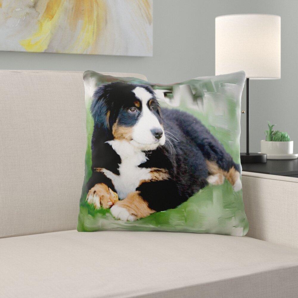 East Urban Home Bernese Mountain Dog Pillow Cover Wayfair