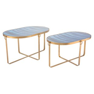 Read Reviews Yentin 2 Piece Nesting Tables by Everly Quinn
