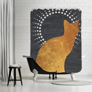 Ikonolexi Cat Shower Curtain