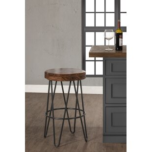 Barger Stationary 30 Bar Stool Union Rustic