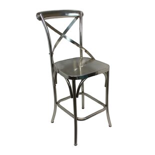 Gracie Oaks Maspeth Solid Metal Bar Stool