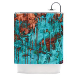 Rusty Teal Shower Curtain by East Urban Home