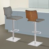 Aldossari Swivel Adjustable Height Bar Stool by Orren Ellis