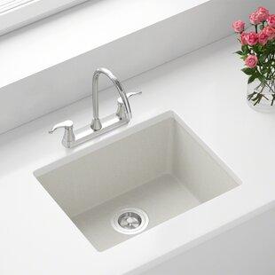 Granite Composite 22 L X 17 W Undermount Kitchen Sink With Basket Strainer