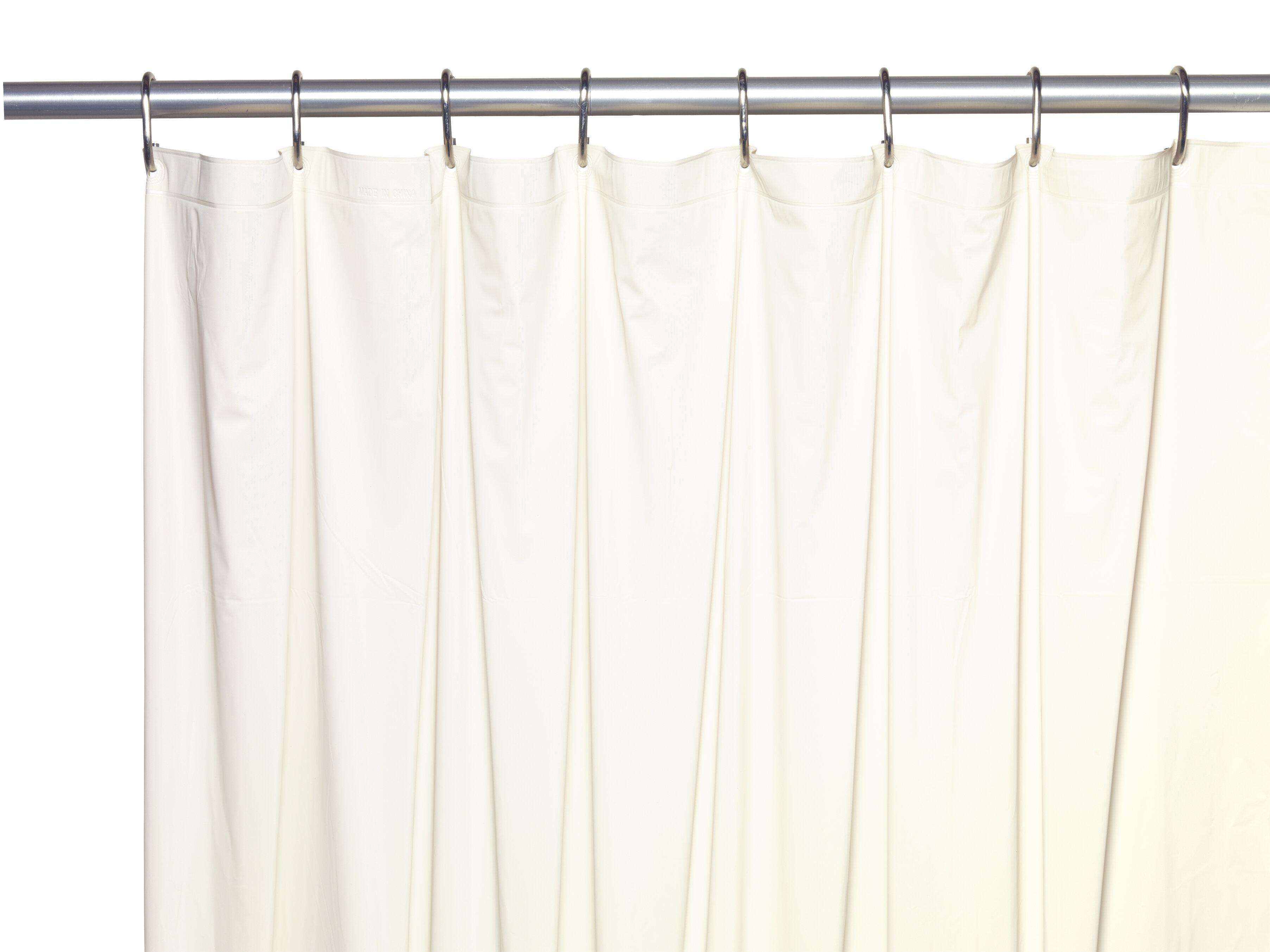 Symple Stuff 5 Gauge Vinyl Single Shower Curtain Liner Reviews