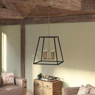 Burley Oak 4-Light Square/Rectangle Pendant by Foundry Select