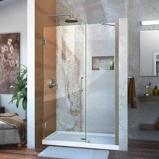 Best Unidoor 42 x 72 Hinged Frameless Shower Door ByDreamLine