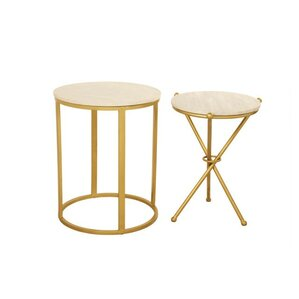 Aula 2 Piece End Table Set by Everly Quinn