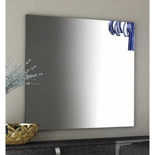 Ebern Designs Flanagan Modern High Gloss Frameless Shaving Mirror