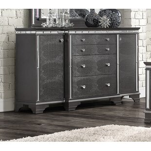 Everly Quinn Landgraf 4 Drawer Combo Dresser