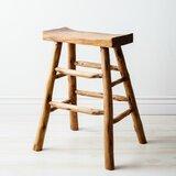 Mcneely Solid Wood 25.2 Counter Stool by Loon Peak®