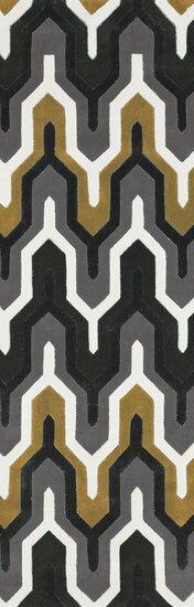 Conroy Hand-Tufted Black/Gray/Brown Area Rug