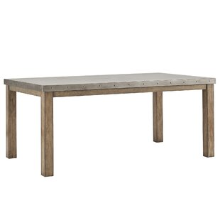 Lark Manor Stainless Steel Top Dining Table
