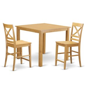 Cafe 3 Piece Counter Height Pub Table Set by East West Furniture