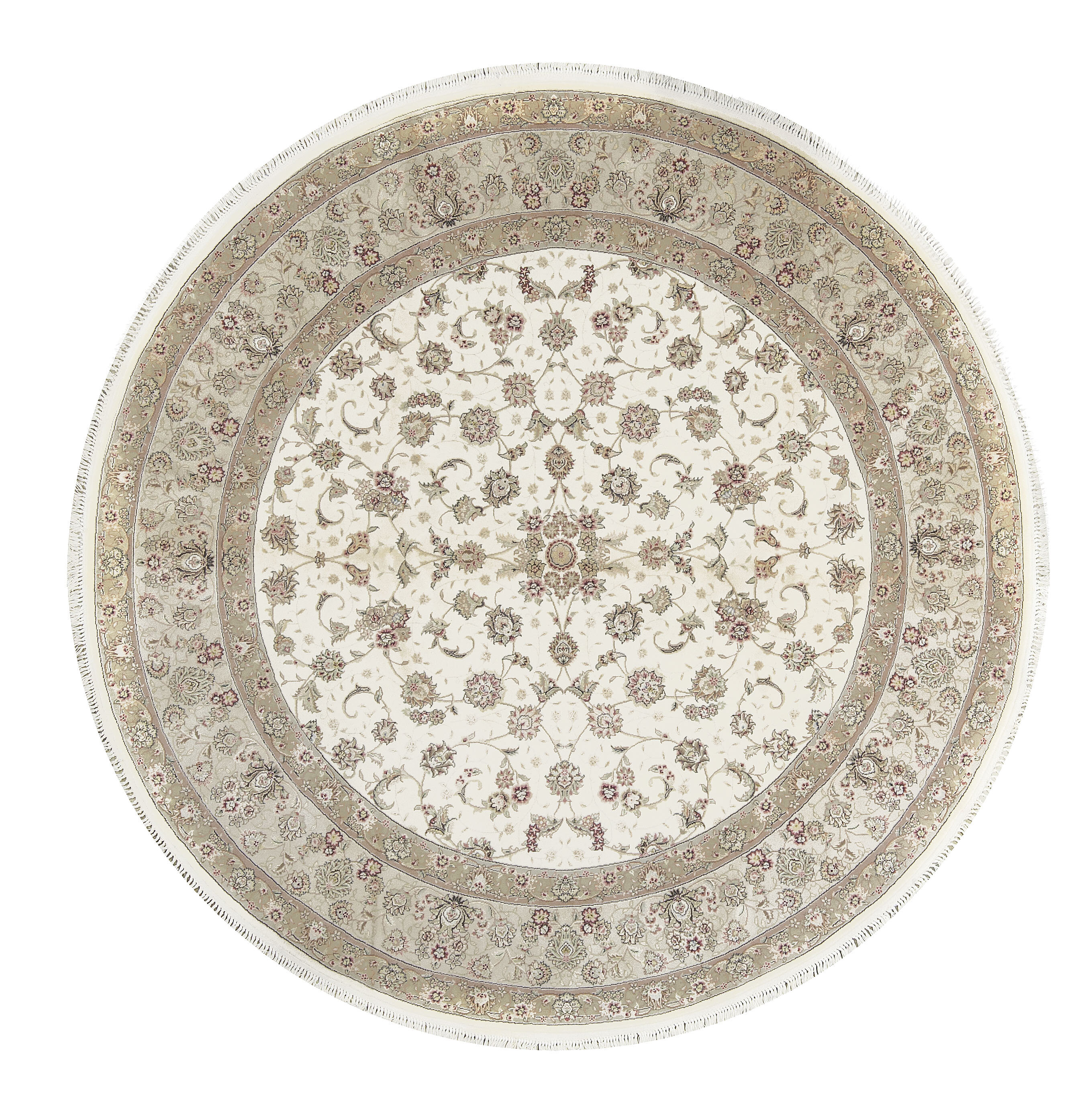 Picture of: Bokara Rug Co Inc One Of A Kind Elegance Hand Knotted Traditional Beige 9 Round Area Rug Wayfair