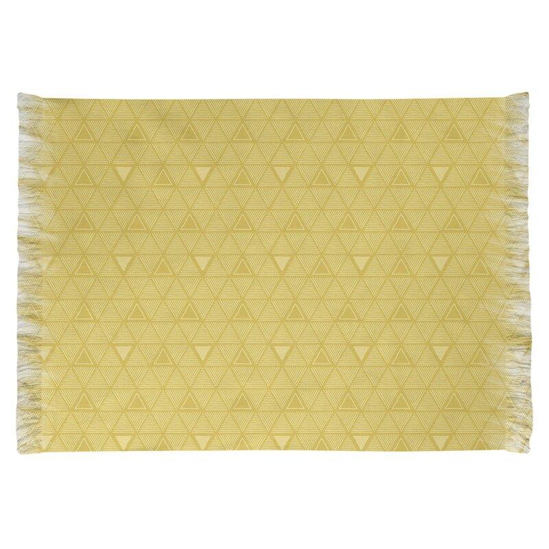 East Urban Home Hand Drawn Triangle Yellow Area Rug Wayfair
