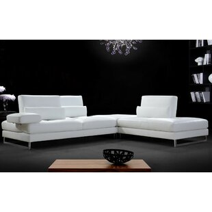 Orren Ellis Coalpit Heath Leather Sectional