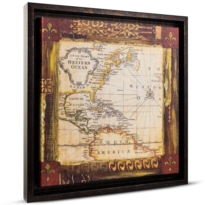 CYRG \'Old World Map\' Painting Print on Canvas | Wayfair