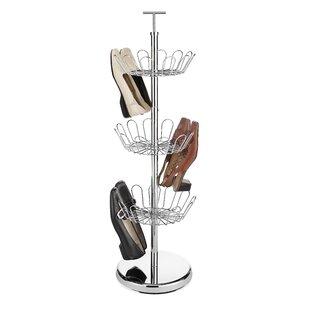 Whitmor, Inc Revolving 3-Tier Shoe Rack
