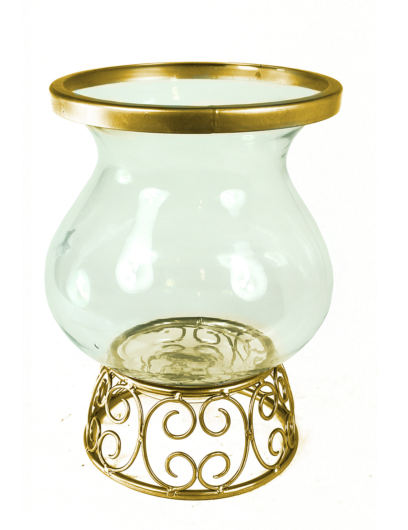 World Menagerie Essential Décor And Beyond Metal And Glass Votive Holder Wayfair