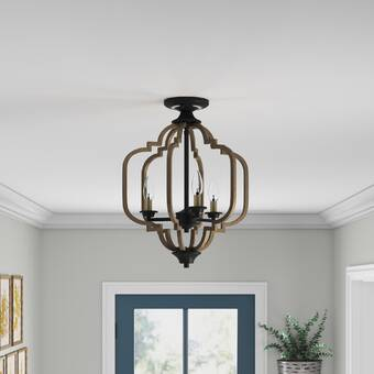 House Of Hampton Cheng 3 Light 9 Chandelier Style Tiered Flush Mount Wayfair