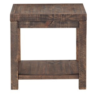 Millwood Pines Stamant Reclaimed Wood End Table